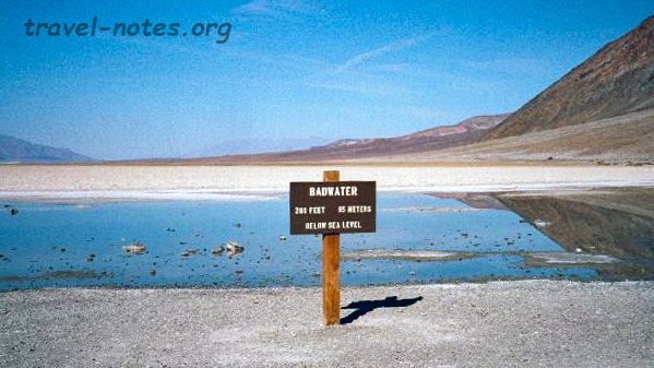 Lowest point in N. America: Badwater